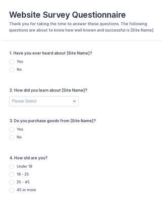270+ Questionnaire Templates & Examples | JotForm