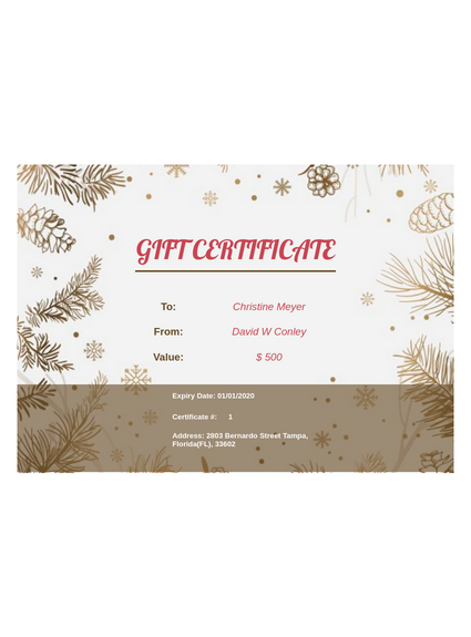 Mother S Day Gift Certificate Template