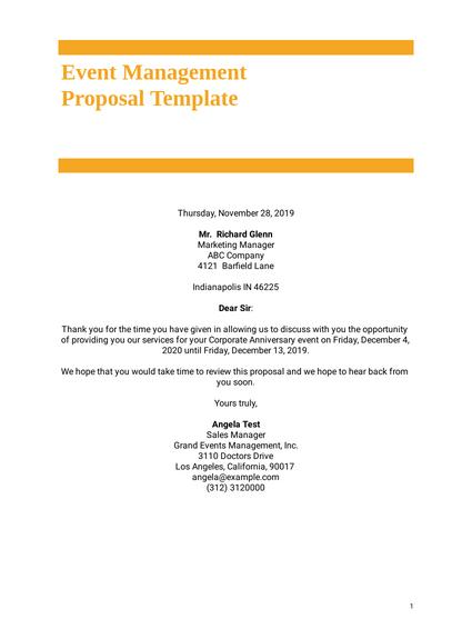 Free Proposal Templates Pdf Templates Jotform